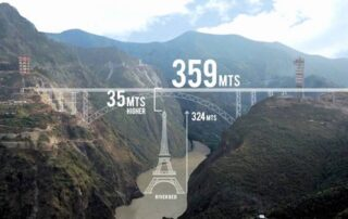 Chenab Bridge - World's highest rail bridge by Indian Railways to connect Kashmir with the rest of India by 2021_Apaha Trainers and Consultants_PG Diploma in Construction Project Management