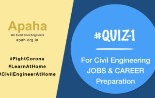 # Quiz-1_For Civil Engineering JOB & Career Preparation, Civil Engineering Career, Civil Engineering Job, Civil Engineering Career Training, Civil Engineering Job Training, Apaha Trainers and Consultants, Institute of Construction Project Management