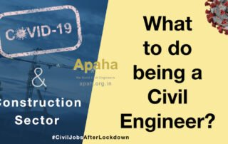 Impact of COVID-19 on Construction Sector | What will happen after lockdown? | What should I do being a Civil Engineer? Apaha Trainers and Consultants Construction Project Management