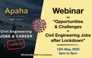 Exclusive Webinar on Opportunities and Challenges in Civil Engineering Jobs after Lockdown | Civil Engineering Jobs and COVID-19 - Apaha Trainers and Consultants #CivilJobsAfterLockdown