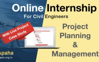 Online Internship on Project Planning and Management for Civil Engineers | Apaha Trainers and Consultants